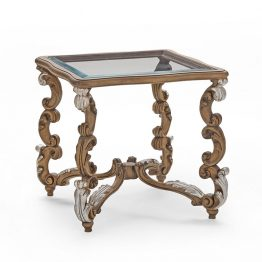 The Baroque Collection Glass Side Table
